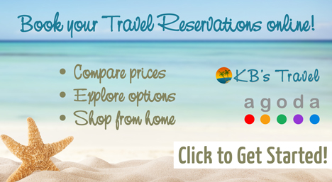 Book Online with KB's Travel and Agoda!